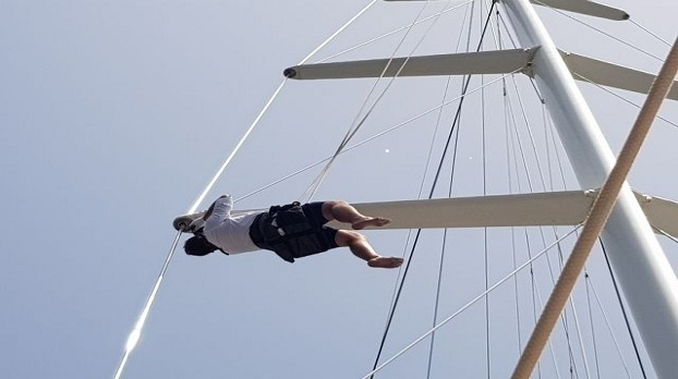 Surveyor Tufan Tunalı Inspecting Yacht Mast
